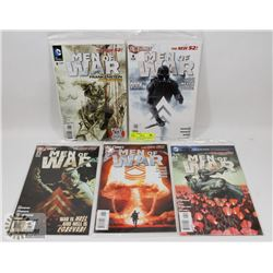5 ISSUES OF DC COMICS  MEN OF WAR  COMIC BOOKS