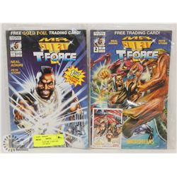 TWO VINTAGE MR. T AND THE T-FORCE, 1ST ISSUE