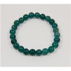 #119-NATURAL GREEN AVENTURINE BEAD BRACELET 8MM