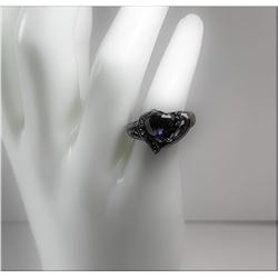 13)  BLACK RHODIUM PLATED WITH HEART