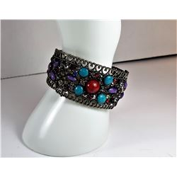 16)  BRONZE COLORED CUFF STYLE BRACELET