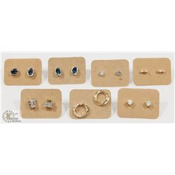 BOX WITH SEVEN SETS OF EARRINGS