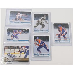 LOT OF 6 OILERS HOCKEY CARDS INCL GRETZKY, MESSIER