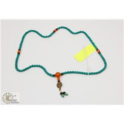 TURQUOISE 108 BEAD MALA PRAYER NECKLACE