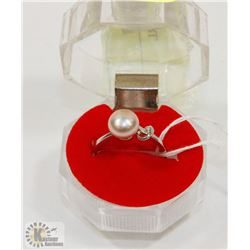 #64-FRESH WATER PEARL LAVENDER RING