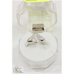 #12-CUBIC ZIRCONIA RING .925 STERLING SILVER RING
