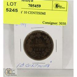 1867 ITALY 10 CENTISIMI