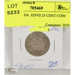 1907 CANADA  EDVII 25 CENT COIN