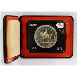 1973 CANADA RCMP SILVER $1 COIN