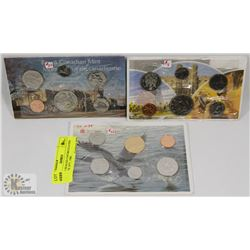 LOT OF 3 SEALED UNCIRCULATED COIN SETS 1977, 1980