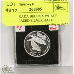 1998 CANADA BELUGA WHALE PROOF CASED SILVER HALF
