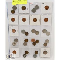 STOCK SHEET  MIXED DATE CANADA COINS