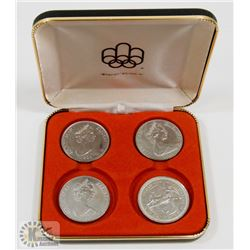 LOT OF 4 ONE CROWN COINS INC 1986 ISLE OF MAN