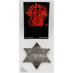 NEW METAL REPLICA SILVER SHERIFF BADGE