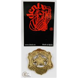 NEW METAL REPLICA CHIEF OF POLICE BADGE