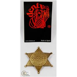 NEW METAL REPLICA GRAND COUNTY SHERIFF BADGE