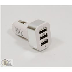 3 PORT USB CAR CHARGER ADAPTOR.
