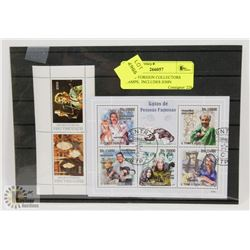 LOT OF FOREIGN COLLECTORS STAMPS,  INCLUDES JOHN