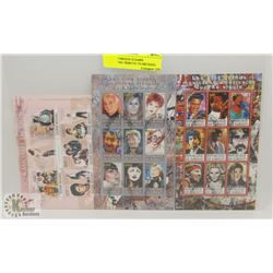 LOT OF FOREIGN STAMPS INCLUDING TRIBUTE TO MICHAEL