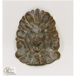 VINTAGE COPPER & BRASS LION ACCENT