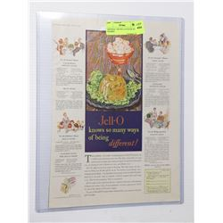 1929 JELL-O COLOR AD FRAMED