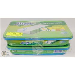 LOT OF 2 SWIFFER SWEEPER CLOTHS