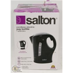 SALTON 1 LITER CORDLESS ELECTRIC KETTLE BLACK