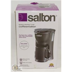 SALTON 1 CUP COFFEE MAKER BLACK