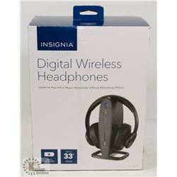 NEW INSIGNIA WIRELESS TV HEADSET 33' RANGE