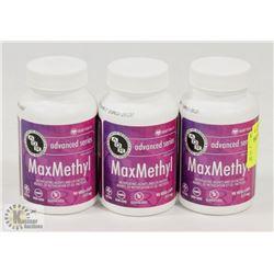 3 BOTTLES OF 90 ADVANCED VEGI-CAPS MAXMETHYL