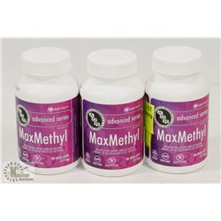3 BOTTLES OF 90 ADVANCED VEGI-CAPS MAXMETHYL
