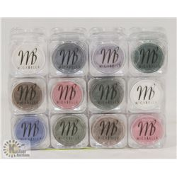12 ASSORTED MICABELLA SHIMMER POWDER