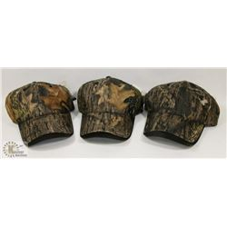 LOT OF 3 NEW MOSSY OAK ADJUSTABLE SIZE BALL CAPS