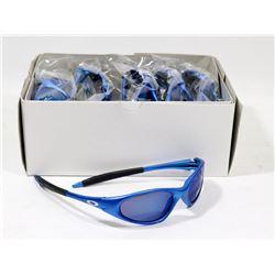 BOX OF OAKLEY STYLE SILVER BLUE DESIGNER