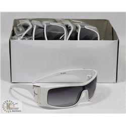 BOX OF FENDI STYLE WHITE DESIGNER SUNGLASSES