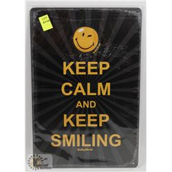 "NEW 12"" X 8"" KEEP CALM METAL SIGN"