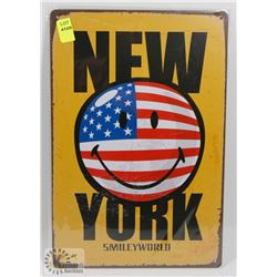"NEW 12"" X 8"" NEW YORK METAL SIGN"