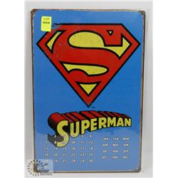 NEW 12  X 8  SUPERMAN METAL SIGN