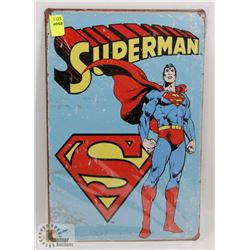 "NEW 12"" X 8"" SUPERMAN METAL SIGN"
