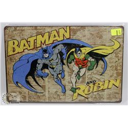 NEW 12  X 8  BATMAN & ROBIN METAL SIGN