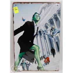 NEW 12  X 8  SHE HULK METAL SIGN