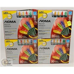 4 BOXES OF NOMA INDOOR LED LIGHTS