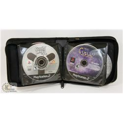 CD BINDER OF 26 PLAYSTATION 2 GAMES INCLUDING