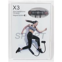 X3 WIRELESS SPORT HEADPHONES