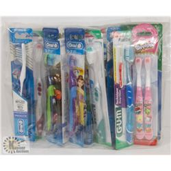 BAG WITH ASSORTED TOOTHBRUSHES