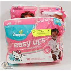 BAG OF EASY UPS FOR GIRLS SZ 2T-3T, 4T-5T