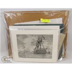 GROUP OF 12 MATTED PRINTS WITH MARITIME THEME