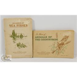 2 CIGARETTE CARD ALBUMS EACH CONTAINING 50 CARDS,