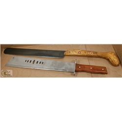 PAIR OF LARGE KNIVES.