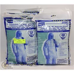 BUNDLE OF 10 NORTH FR DISPOSABLE COVERALLS